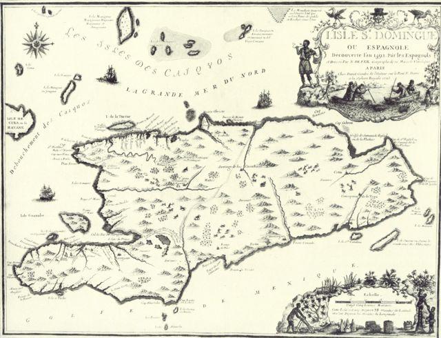 Aventures à Saint-Domingue (survenues les 29-30 octobre à Theix) Hispaniola